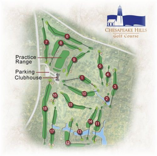Map of Chesapeake Hills Golf Course