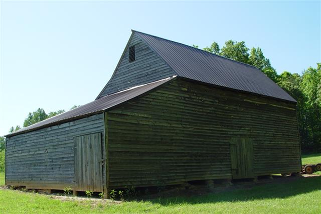 Side of wooden barn