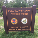 Solomons Town Center Park Sign
