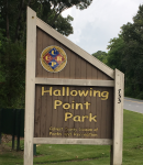 Hallowing Point Park Sign