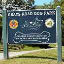 Grays Road Dog Park Sign