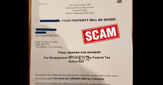 Example of a scam letter
