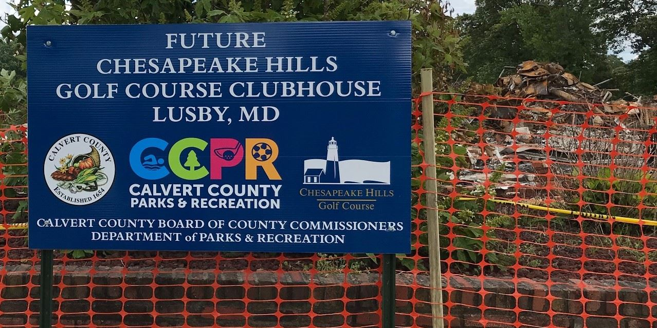 Chesapeake Hills Clubhouse Coming Soon Sign